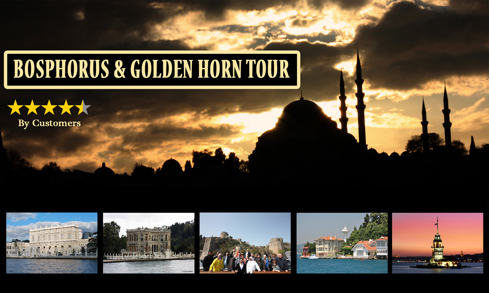 5 Hours Bosphorus Tour (With2 Stops)
